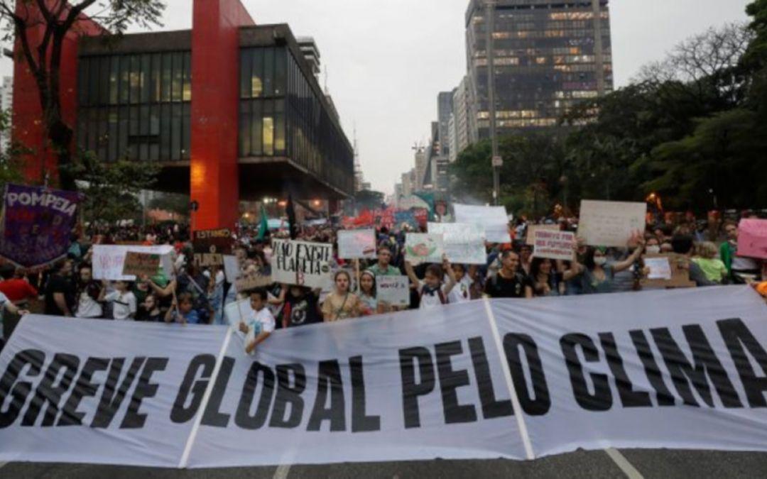 Jovens mostram sua força na mobilização global pelo clima