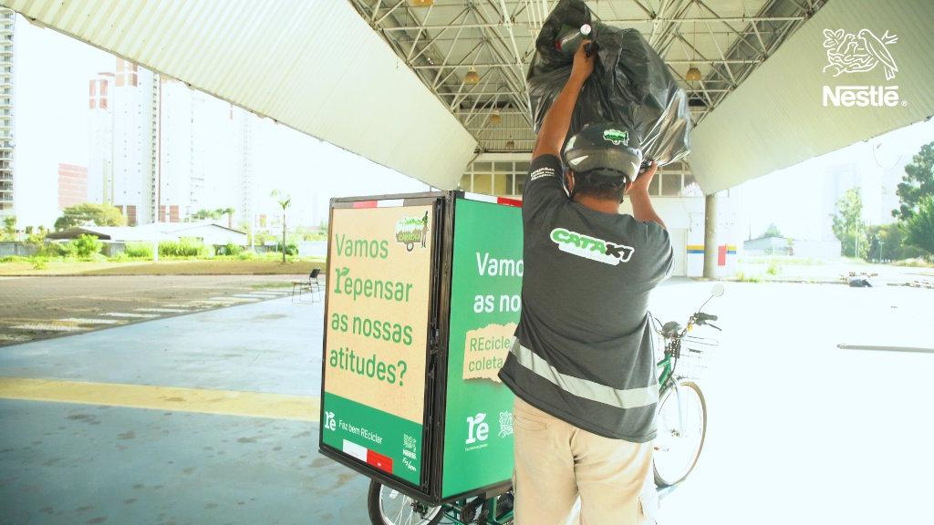 Parceria entre o EcoBot da Nestlé e o APP Cataki tem alcançado bons resultados